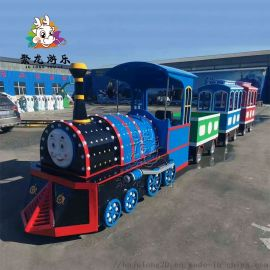 新型观光缆车仿古式电动小火车聚龙游乐