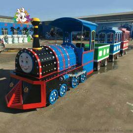 儿童仿古式无轨电动火车聚龙游乐设备厂家