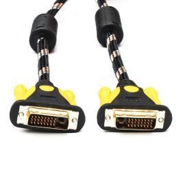 厂家直销 DVI线 24+1 1.5米-20米 黄黑网DVI线D-D 高清数字连接线