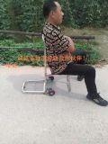 不鏽鋼2輪載重行李車 帶座椅 手拉車 多功能 摺疊 購物車 旅行座位車
