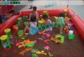 昆明那里有儿童玩的沙池  广东厂家定制 多功能充气水池 充气沙池 充气游泳池