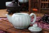 天泽青花瓷龙泉带鱼功夫茶壶