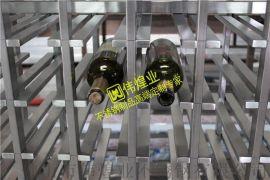 豪华不锈钢酒架-伟煌业 广州拉丝不锈钢红酒架