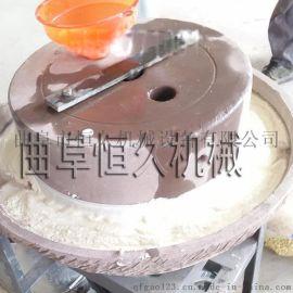 山东电动石磨豆浆米浆磨浆机 天然砂岩石豆腐肠粉石磨