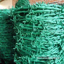 镀锌拧编刺绳 PVC包塑刺绳 防腐蚀抗老化 围栏