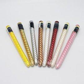 厂家直销欧式长杆螺纹蜡烛 无烟不流油 搭配烛台  10寸25cm杆蜡