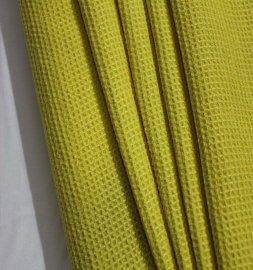 俊高素色格仔布(黄色)