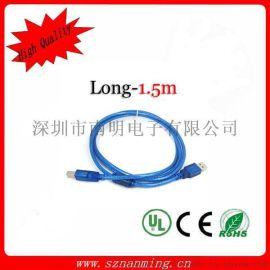USB2.0打印线USB黑色高速方口打印线 打印机连接线