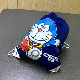 防水尼龙购物抽绳束口双肩包布袋子拉绳涤纶束口袋定制