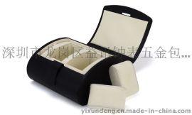 益讯高档包装盒 PU皮手表盒 包装合定做 翻盖 表盒