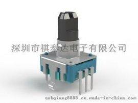 供应EC12带开关编码器,24P脉冲编码器,数字电位器增量式编码器