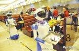 科大訊飛智慧餐飲哈工大007迎賓傳菜服務機器人