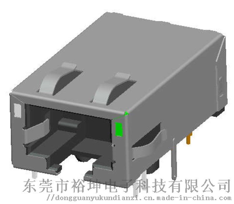 RJ45 1x1长款 10G+POE 带滤波 连接器