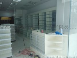 四川成都药房展柜、中药柜、西药柜、药店展柜货架厂家