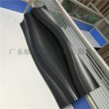 水族馆门头铝板定制,造型双曲铝单板,异形板幕墙