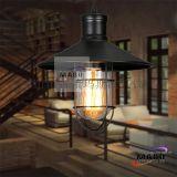 复古个性艺术餐厅灯Loft工业单头吧台锅盖吊灯美式乡村铁艺餐吊灯MS-P6032