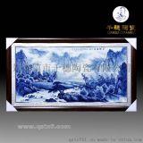 景德鎮山水瓷板畫價格_手工繪畫青花山水瓷板畫圖片