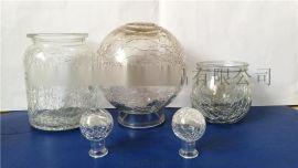 冰花玻璃裂纹球厂家
