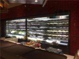 定做 巴奴火鍋點菜櫃,不鏽鋼噴霧風幕櫃,立式噴霧菜品保鮮冷藏櫃