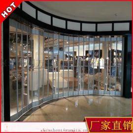 厂家订制水晶折叠门广式水晶透明推拉门