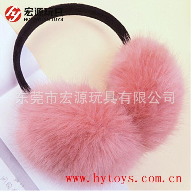 厂家供应定做冬季毛绒保暖耳套 耳罩保暖毛绒耳罩耳套 动物毛耳罩