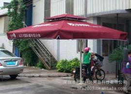 枣红色单边广告伞侧立伞按要求印广告一件起做