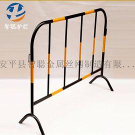 供应移动铁马护栏临时护栏厂家工黄黑铁马护栏