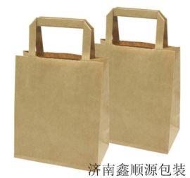 湛江供应环保精美的扁手提牛皮纸手提袋