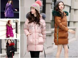 冬季女裝棉襖外套韓版時尚羽絨服地攤貨長款棉衣低價清