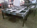 带抽屉餐桌 镀锌板餐桌椅 可充电可放碗碟的桌椅