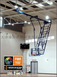 吊顶篮球架 FIBA国际认证 S04070 电动升降