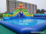 室外大型充氣滑梯水池移動遊樂