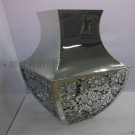 拉丝镜面不锈钢花盆定做加工