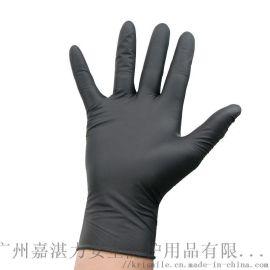 一次性黑色丁腈手套美容美发手套批发