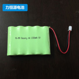 可充电镍**5号电池AA尖头电池1300MAH6V