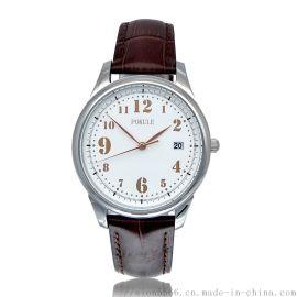XJK-1805B日本機芯不鏽鋼殼真皮表帶石英手表