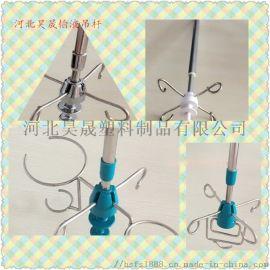 济南医用不锈钢输液吊杆 可伸缩式天轨输液架吊钩