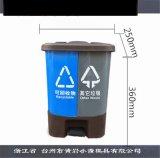 台州模具公司日本雙筒垃圾桶模具