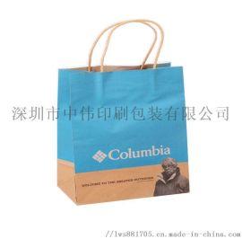 厂家定制印刷服装纸袋购物礼品手提袋烫金