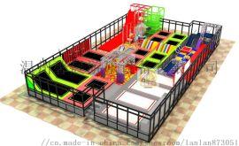 供应网红大蹦床主题公园设备焊雪大滑梯