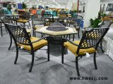 瓷砖烧烤桌BML16235|别墅花园家具|铸铝桌椅