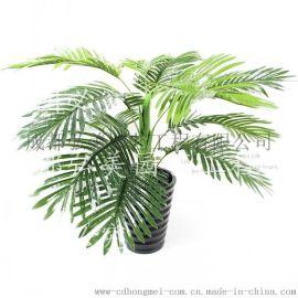 重庆假植物生产 重庆仿真绿萝 滴水观音 重庆假发财树 橡皮树 散尾葵批发