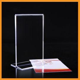 T型热弯式亚克力台签 ,A6水晶桌牌台牌, 酒水展示牌