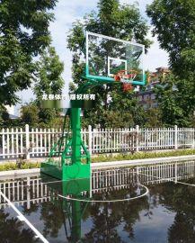 標準平箱防液壓籃球架 移動固定籃球架 比賽籃球架