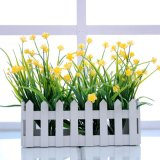 批发塑料栅栏盒玉米花仿真花套装简约桌面摆放花艺客厅装饰