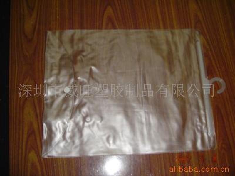 供应生产服装 pvc挂钩袋
