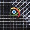 PVC透明网格布 网眼布 1CM格子透明布