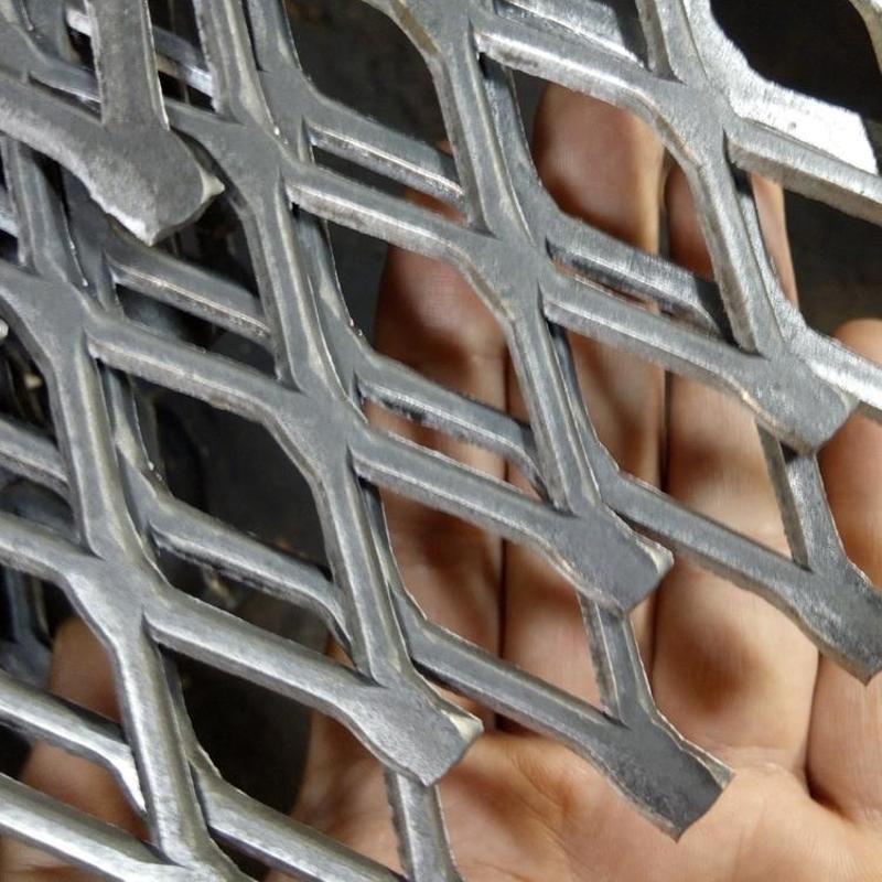 幕墙钢板菱形网 钢板拉伸网 菱形网