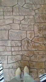 桓石2017186装饰砼,彩色路面,高强度耐磨压模地坪