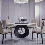 廠家直銷大理石餐桌,輕奢意式家用餐檯,東莞餐桌定製